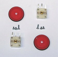 2 pcs VARIABLE tuning PV capacitor AM transistor radio 2 section cap - RED knob