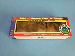 Vintage Life Like Trains Small Green Shade Trees NEW item #1902 Realistic Colors