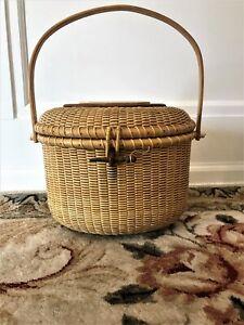 vintage nantucket basket purse