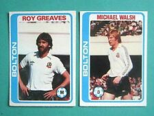 2 x TOPPS 1979/80 FOOTBALL CARDS. BOLTON WANDERERS FC. PALE BLUE BACKS SERIES