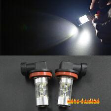 2PCS High Power H11 H8 LED Fog Lights Driving Light Projection Bulbs 60W White