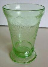 Green Depression Glass Footed Tumbler