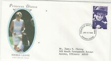 SIERRA LEONE 1998 FIRST DAY COVER HONORING PRINCESS DIANA