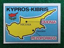 FOOTBALL CLUBS 1975 n 169 KIPROS KIBRIS , Figurina Sticker Panini NEW