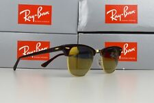 Ray-Ban Clubmaster RB3016 49mm Sunglasses Tortoise / Mirror Gold Polarised Lens