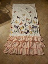 Lush Decor Flutter Butterfly Shower Curtain, Pink, Standard