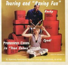1995 Print Ad of XL Specialty Protechtor Drum Cases w Rocky Bryant Cyndi Lauper