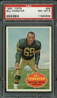 1960 Topps FB Card # 58 Bill Forester Green Bay Packers PSA NM-MT 8 !!!!