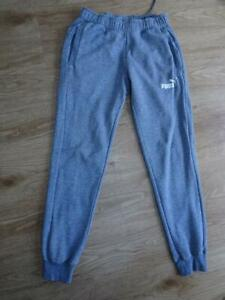 PUMA mens grey tracksuit trousers joggers MEDIUM EXCELLENT COND