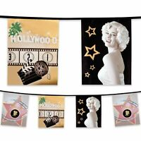 6m Plastic Bunting Hollywood Movie Party Decoration Banner Garland