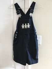 New Legends 🌺 Embroidered Bib Overalls Girls Size..Medium..EUC✨