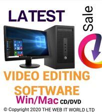 VIDEO EDITING SOFTWARE - WINDOWS 10 8 7 & MAC (CD/DVD) Free-Post