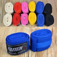 2Pcs Boxing Cotton Bandage Sanda Muay Thai MMA Taekwondo Hand Wraps Strap