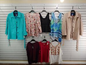 Wholesale Lot of 8 size 2XL 2X Large Womens Clothes T Shirt Blouse Tank Top 406