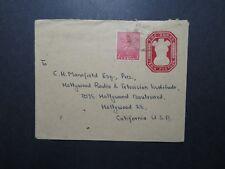 India 1951 Uprated 2 Anna Postal Stationery to USA (II) - Z11662