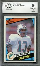 1984 topps #123 DAN MARINO miami dolphins rookie card (CENTERED) BGS BCCG 9