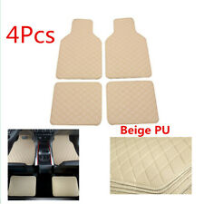 Car PU Leather Floor Liner Carpet All Weather Mats For Front & Rear Waterproof