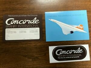 Braniff International Airlines Postcard - Concorde the Supersonic Passenger Jet