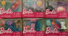 Barbie Doll Accessory 6 Pack TACOS Pasta BREAKFAST Puppy SPA Kitten