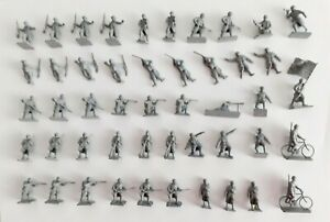 Vintage Airfix HO OO 1/72 WW1 French Infantry Complete Unboxed Set