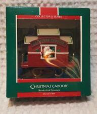 Vintage Hallmark Ornament  Christmas Caboose  1989 Here Comes Santa  #11
