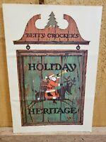 Vintage 1966 Betty Crocker's Holiday Heritage Recipe Pamphlet Gold Medal Chiffon
