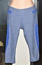 Marika Sport Women's Workout Leggings Blue Pants Size 8/10 Medium Capri Length