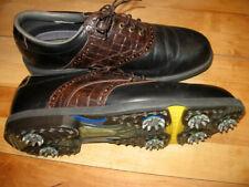 FOOTJOY DRYJOY Golf Shoes 10.5 M Aquaflex Leather Black & Brown New Soft Spikes