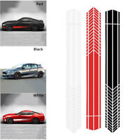 Universal RED Sports Racing Stripe Stickers Auto Car Body Side Door Decals Decor
