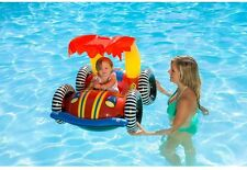 Baby Swimming Pool Ride Inflatable Floating Toy Water Buggy Sunshade Float Car