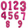 """34"""" Foil Balloons Number Letters 0-9 Hot Pink For Birthdays Weddings Party Decor"""