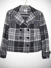WORTHINGTON Black Gray White PLAID Jacket Petite PL padded shoulder