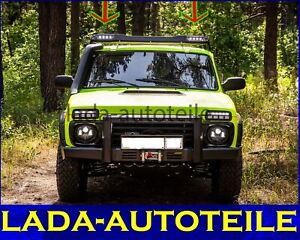 Roof rack expedition with running lights Lada Niva 4x4 2121 F-Design