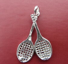 Coppia di Racchette da Tennis  ciondolo in argento 925