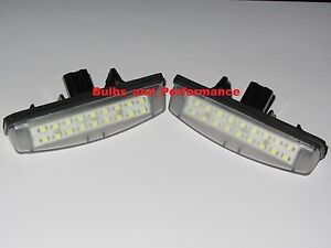 Fits 2006 2007 2008 2009 2010 TOYOTA SIENNA WHITE LED LICENSE PLATE LIGHTS LAMPS