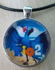 "Rio 2 The Movie  ""JEWEL""  Glass Pendant with Leather Necklace"