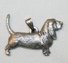 Basset Hound Dog Harris Fine Pewter Pendant USA Made