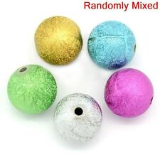 20 ASSORTED ROUND ACRYLIC STARDUST SPACER BEAD~16mm~NECKLACE~BRACELET~CRAFT(46E