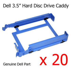 "20 x Dell Dimension 9150 Tower 3.5"" Hard Drive Caddy / Tray H7283 YJ221 U6436"
