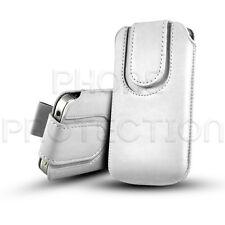Knopf Leder Pull Tab Hülle Case Cover Etui für verschiedene Sony Ericsson Handys