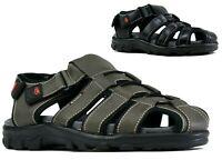 Men New Casual Grip Sole Strappy Closed Toe Summer Beach Sandals UK Size 6-11