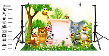 7x5Ft Background Cute Animals Jungle Photo Backdrop Photography Props Scene Show