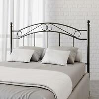 CLASSIC METAL HEADBOARD Full Queen Size Vintage Bed Frame Traditional 3 Colors