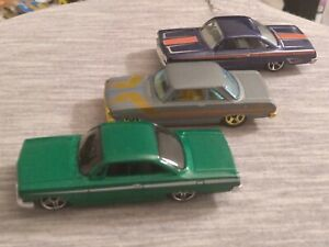 Hot Wheels Loose Lot of three Chevy Cars w/two 1962 & one 1963 II !!