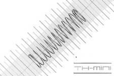 Druckfeder Drahtstärke: 1mm, Außen Ø: 21mm, Länge: 71,3mm, Edelstahl