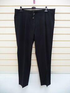 """Sheego Women's Trousers Black Size 26L  BNWT Tall Inside Leg 34"""" G048"""