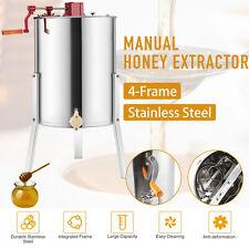 4-Frame Manual Honey Extractor Beekeeping Equipment Tool Honeycomb 4/8 Frame