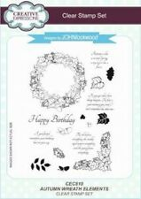 Creative Expressions AUTUMN WREATH ELEMENTS CEC810 A5 Clear Stamp John Lockwood
