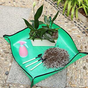 Garden Floor Mat Foldable Multifunctional Green Bonsai Succulent Potting Tarp