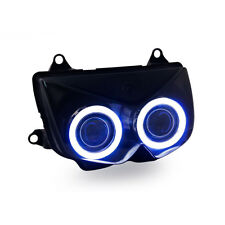 KT LED Angel Eye HID Headlight Assembly for Kawasaki Z750 2004 2005 2006